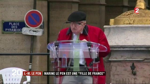 """Hommage à Jeanne d'Arc : Jean-Marie Le Pen soutient sa fille, une """"fille de France"""""""
