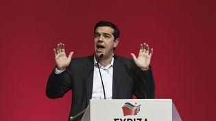 Alexis Tsipras, leader du parti d'extrême-gauche grec Syriza à Athènes, le 3 janvier 2015. ( ALKIS KONSTANTINIDIS / REUTERS)