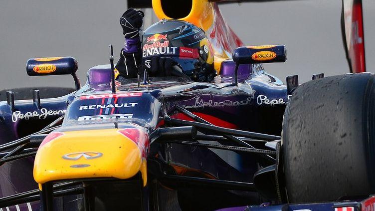 Sebastian Vettel (RedBull) a posé du début à la fin sa main sur le GP du Canada.  (EMMANUEL DUNAND / AFP)