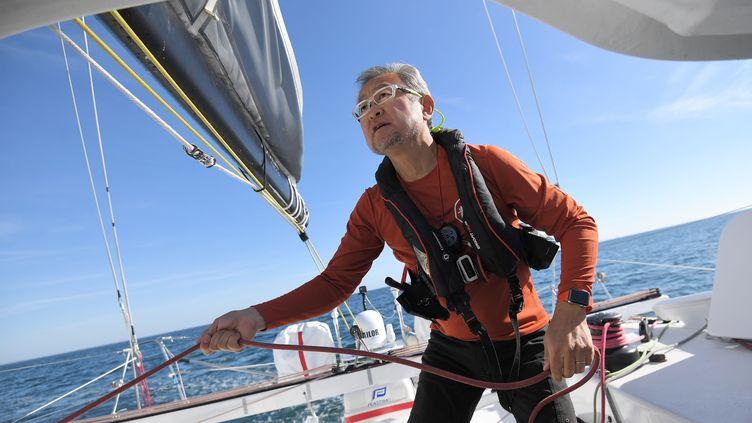 Le skipper japonais Iroshi Kitada (LOIC VENANCE / AFP)