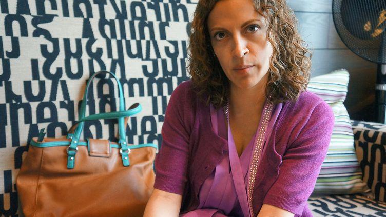 La journaliste colombienne Jineth Bedoya lors d'une interview à Londres, au Royaume-Uni, le 11 juin 2014. (MARCELA GUTIERREZ / NOTIMEX / AFP)