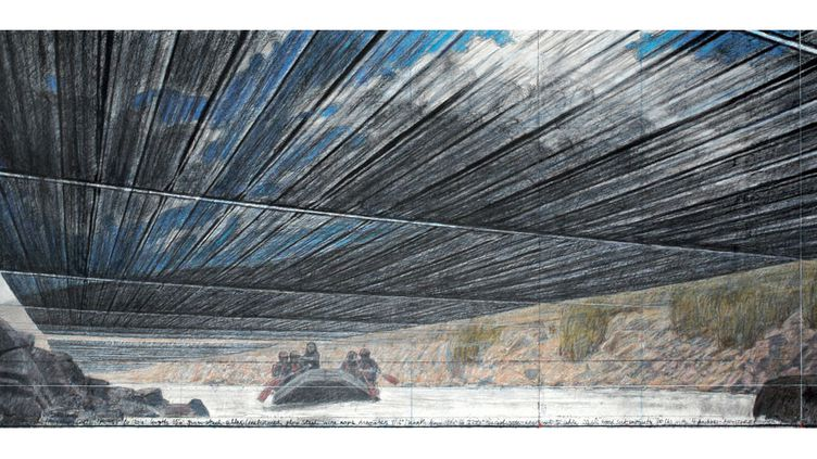 Over The River, projet pour la rivière Arkansans, dans l'Etat du Colorado, 2010, photo André Grossmann  (2010 Christo)