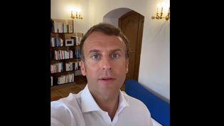 Capture écran du compte Instagram d'Emmanuel Macron, le 5 août 2021. (EMMANUEL MACRON)