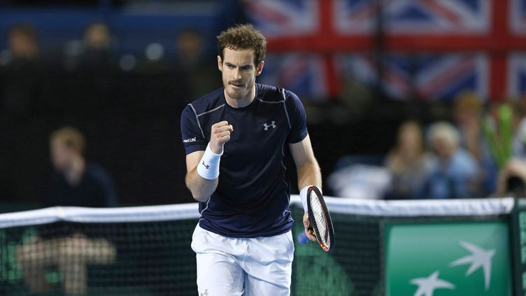 La traditionnelle rage de vaincre d'Andy Murray (JUSTIN TALLIS / AFP)