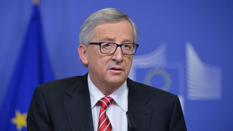 Le président de la Commission européenne Jean-Claude Juncker participe à une conférence de presse à Bruxelles (Belgique), le 4 décembre 2014. (DURSUN AYDEMIR / ANADOLU AGENCY / AFP)