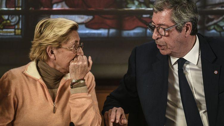 Les époux Balkany, lors d'un conseil municipal à Levallois-Perret, le 15 avril 2019. (STEPHANE DE SAKUTIN / AFP)