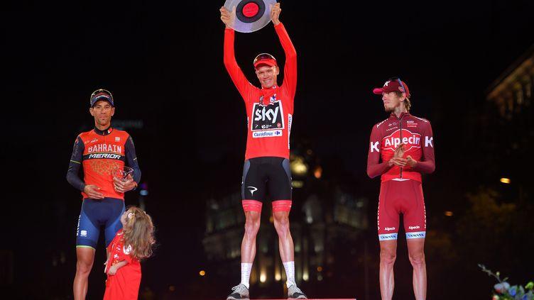 Podium de la Vuelta 2017. (DE WAELE TIM / TDWSPORT SARL)