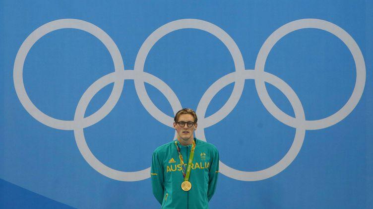 Le nageur australien Mack Horton lors de la finale du 400 m nage libre aux Jeux olympiques de Rio, le 6 août 2016. (MARCOS BRINDICCI / REUTERS)