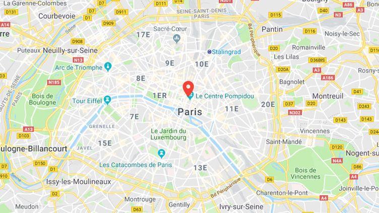 L'agression s'est produite boulevard de Sébastopol, dans le 1er arrondissement de Paris. (GOOGLE MAPS)