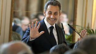 L'ancien chef de l'Etat Nicolas Sarkozy, lors d'une cérémonie à Bruxelles (Belgique), le 27 mars 2013. (VIRGINIA MAYO / AP / SIPA)