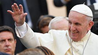 """Le pape François """"a pesé, et il va peser"""" sur le débat autour de l'avortement, selon l'historien Philippe Levillain. (ANDREAS SOLARO / AFP)"""