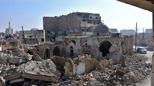 Le quartierBab Al-Nairab, à Alep (Syrie), le 10 décembre 2016. (GEORGE OURFALIAN / AFP)