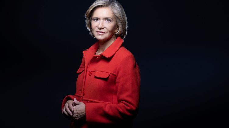 La présidente de la région Ile-de-France Valérie Pécresse à Paris, le 8 avril 2021. (JOEL SAGET / AFP)