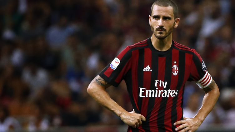 Leonardo Bonucci sous les couleurs de l'AC Milan. (MARCO BERTORELLO / AFP)