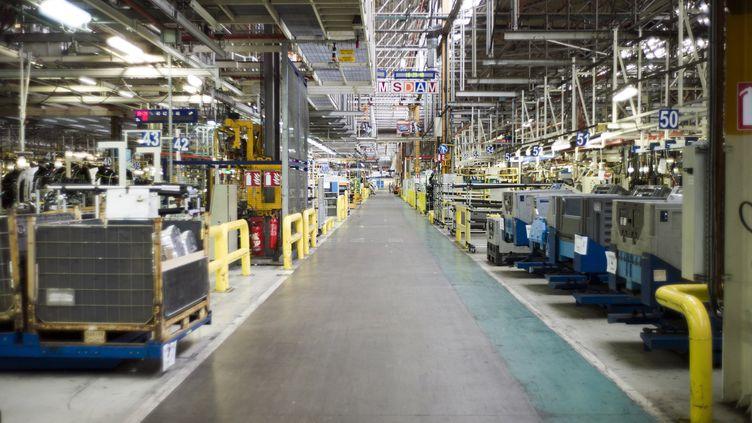 L'usine PSA d'Aulnay-sous-Bois (Seine-Saint-Denis), le 10 avril 2013. (FRED DUFOUR / AFP)