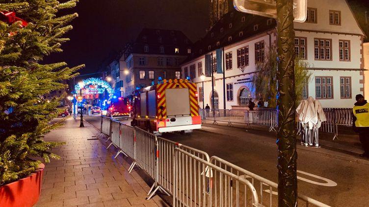 La fusillade a eu lieu dans le centre-ville de Strasbourg, près du marché de Noël. (HERVÉ DE HARO / FRANCE-BLEU ALSACE)