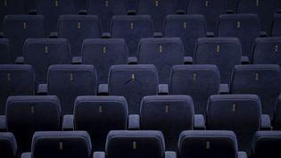 La salle de cinéma Le Panthéon, dans le Ve arrondissement de Paris, vide de spectateurs. (CHRISTOPH SOEDER / DPA)