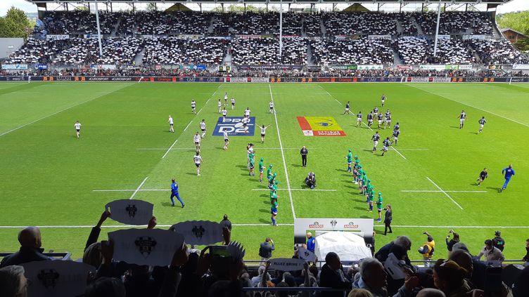 Match de rugby au Stadium de Brive contre Bayonne, pro D2. (NICOLAS BLANZAT / RADIO FRANCE)