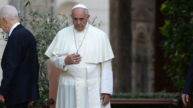 """Le pape François a voulu respecter sa """"neutralité"""". (FILIPPO MONTEFORTE / AFP)"""