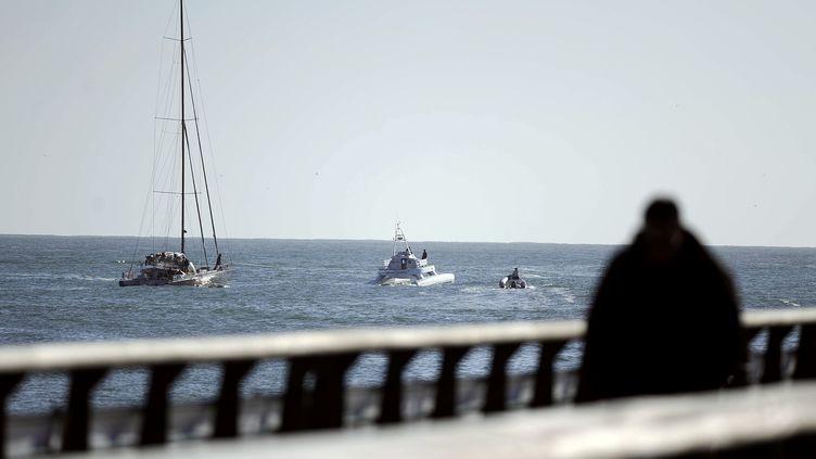 Le 11 novembre 2012 aux sables d'Olonne (Vendée) (JEAN-SEBASTIEN EVRARD / AFP)