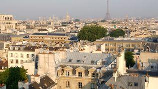 Une vue de Paris, au printemps dernier. (ANTOINE LORGNIER / AFP)