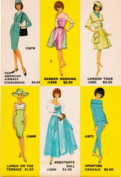 Le catalogue Mattel de 1962  (Mattel)