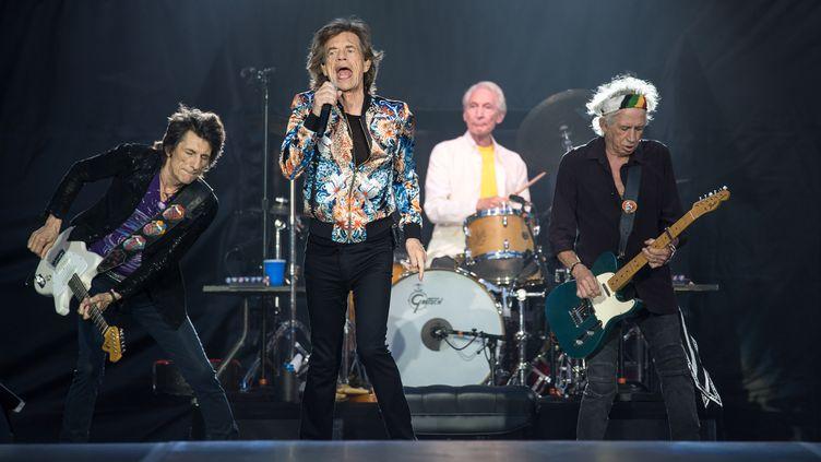 Les Rolling Stones en concert àStuttgart, en Allemagne, le 30 juin 2018. (SEBASTIAN GOLLNOW / DPA / AFP)