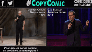 "Capture d'écran de la vidéo Youtube de CopyComic ""Gad Elmaleh, partie 1""  (Capture écran CopyComic)"