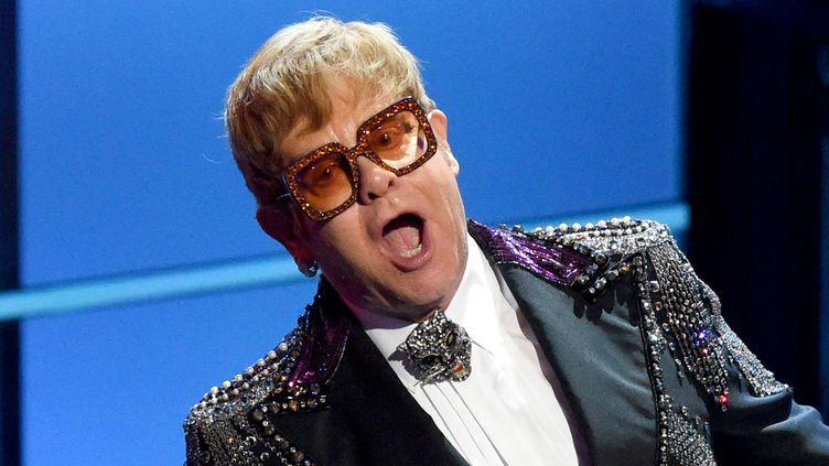 Elton John aux 60e Grammy Awards le 30 janvier 2018 à New York.  (Michael Kovac / Getty Images / AFP)