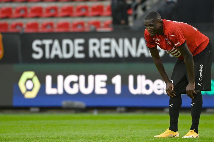 Serhou Guirassy, l'attaquant du Stade Rennais. (DAMIEN MEYER / AFP)