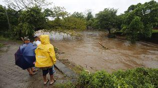 La ville deMasachapa, 60 km de la capitale Managua (Nicaragua), frappée par la tempêtetropicale Nate, le 5 octobre 2017  (INTI OCON / AFP)