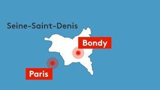 La ville de Bondy est située en Seine-Saint-Denis. (RADIO FRANCE / FRANCEINFO)