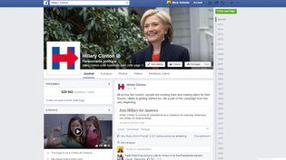 Capture d'écran de la page Facebook officielle d'Hillary Clinton, le 13 avril 2015. (FACEBOOK)