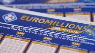 Des bulletins du jeu Euromillions-My Million.  (JOEL SAGET / AFP)