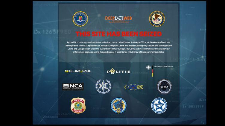 Capture d'écran du site DeepDotWeb, saisie par la justice américaine. (DEEPDOTWEB.COM)