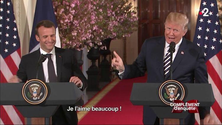 """Macron/Trump : la """"bromance"""" (COMPLÉMENT D'ENQUÊTE / FRANCE 2)"""