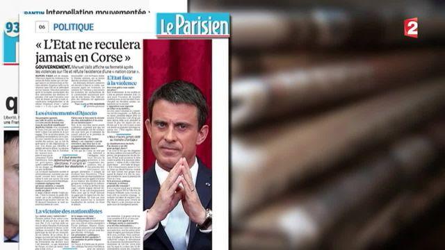 Corse : les propos de Manuel Valls agacent les élus nationalistes