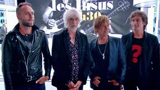 Aleksander Angelov, Louis Bertignac, Jean Louis Aubert et Richard Kolinka les Insus sur le plateau de France 2  (France 2 / Culturebox)