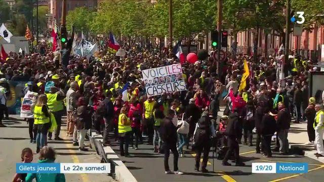 Gilets jaunes : 22e samedi de mobilisation dans toute la France