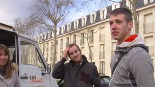 France 2 a recueilli le témoignage d'un jeune SDF. ( FRANCE 2)