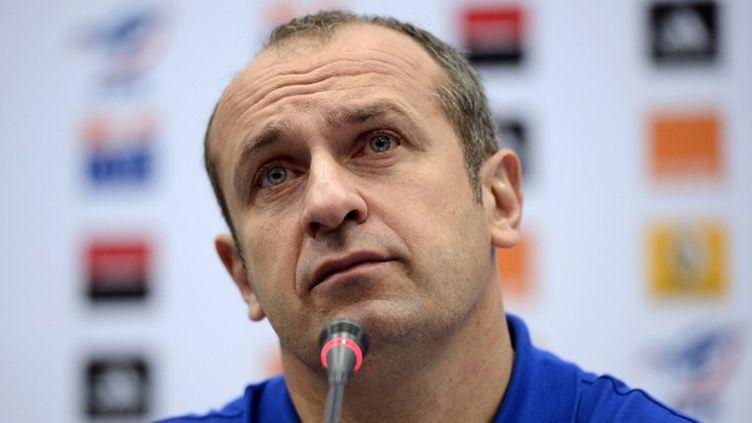 Le sélectionneur de l'équipe de France Philippe Saint-André