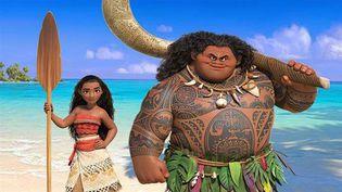 A droite, Maui, l'un des personnages principaux du nouveaufilm de Disney, Vaiana : La Légende du Bout du Monde. (DISNEY)