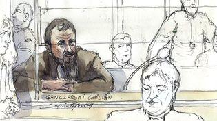 Le terroriste allemand Christian Ganczarskiest jugé pourl'attentat de Djerba (Tunisie), le 5 janvier 2009, devant la cour d'assises spéciale de Paris. (BENOIT PEYRUCQ / AFP)
