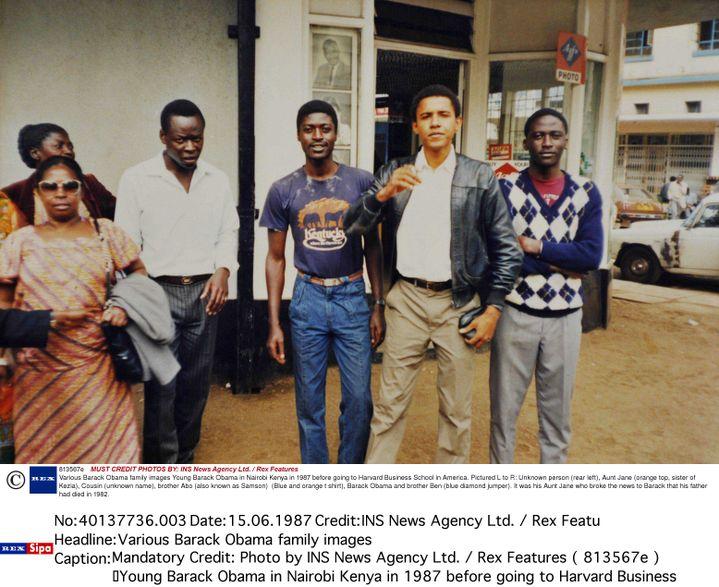 Barack Obama, à Nairobi(Kenya), en 1987. (ALEX COPPEL / NEWSPIX / REX / SIPA)
