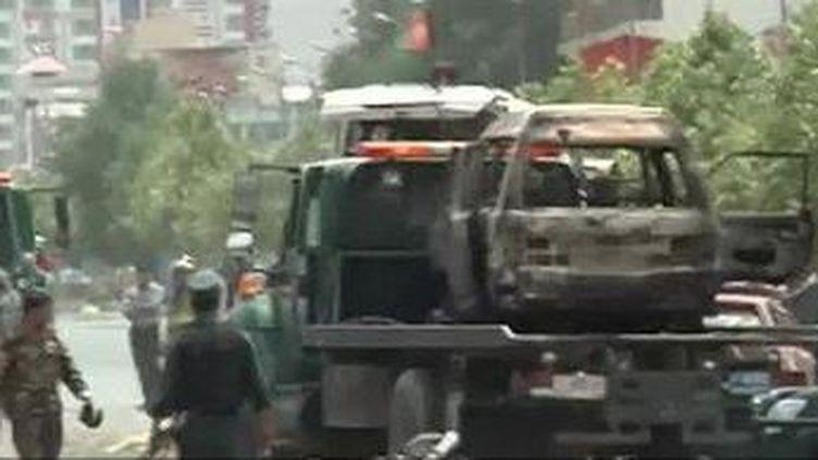 Les talibans ont attaqué le Parlement à Kaboul en Afghanistan. (CAPTRUE D'ÉCRAN FRANCE 2)