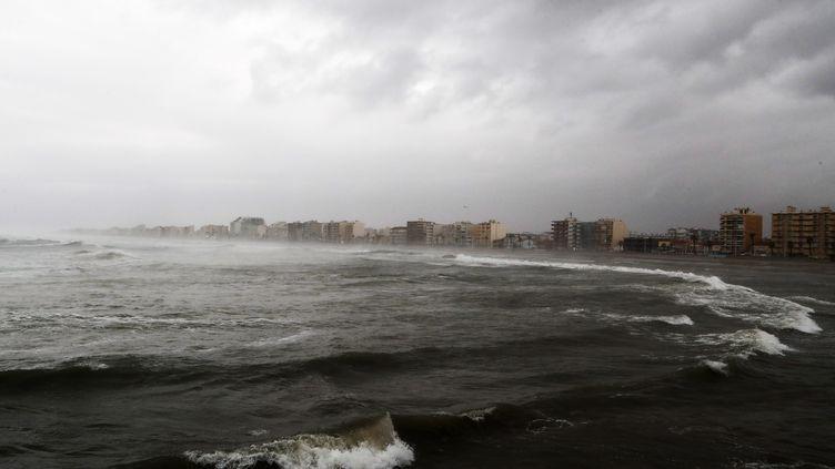 La tempête Gloria a touché les plages de Canet-en-Roussillon (Pyrénées-Orientales) mardi 21 janvier 2020. (MAXPPP)