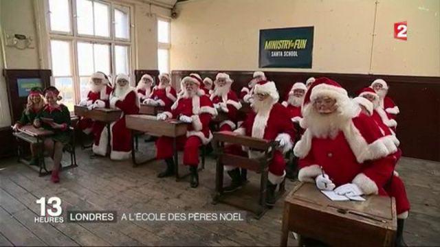 Londres : visite de l'école des Pères Noël