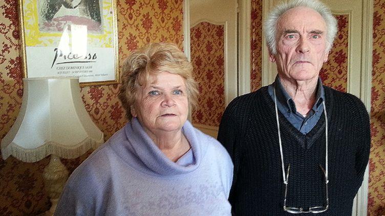 (Pierre le Guennec et son épouse. Cet ancien électricien est jugé à Grasse où il s'expliquera sur les 271 oeuvres de Picasso qu'il possédait © RF/Sébastien Baer)
