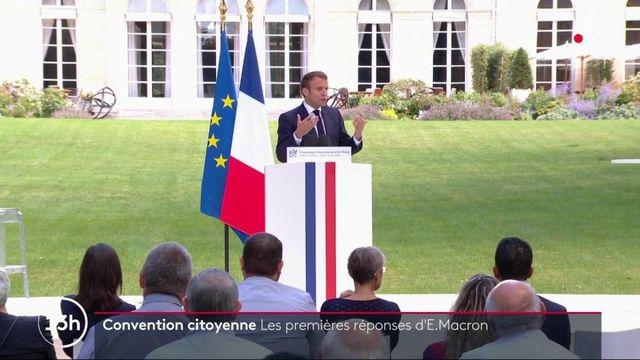 Climat : les premières réponses d'Emmanuel Macron aux participants à la convention citoyenne