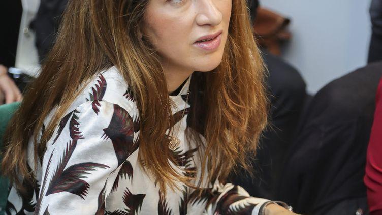 La journalisteZineb El Rhazoui au salon du Livre de Bruxelles, le 16 février 2019. (OLIVIER-GUY DEMOULIN / MAXPPP)